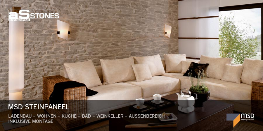 wandverkleidung wandgestaltung wanddekoration ambiente stones gmbh. Black Bedroom Furniture Sets. Home Design Ideas